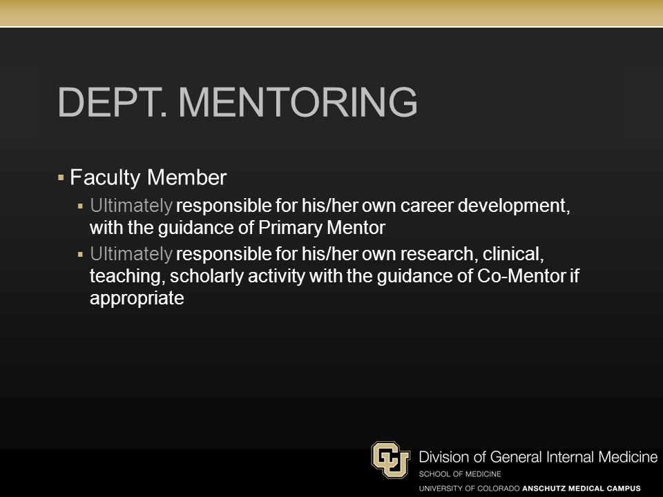 Dept. Mentoring Faculty Member