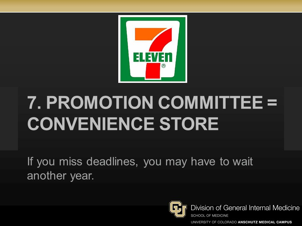 7. Promotion Committee = convenience store
