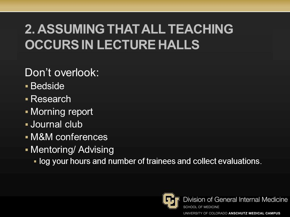 2. Assuming that all teaching occurs in lecture halls