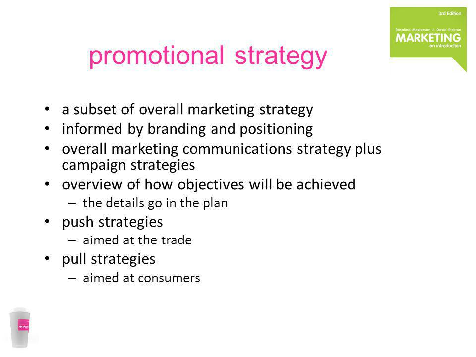 promotional strategy a subset of overall marketing strategy