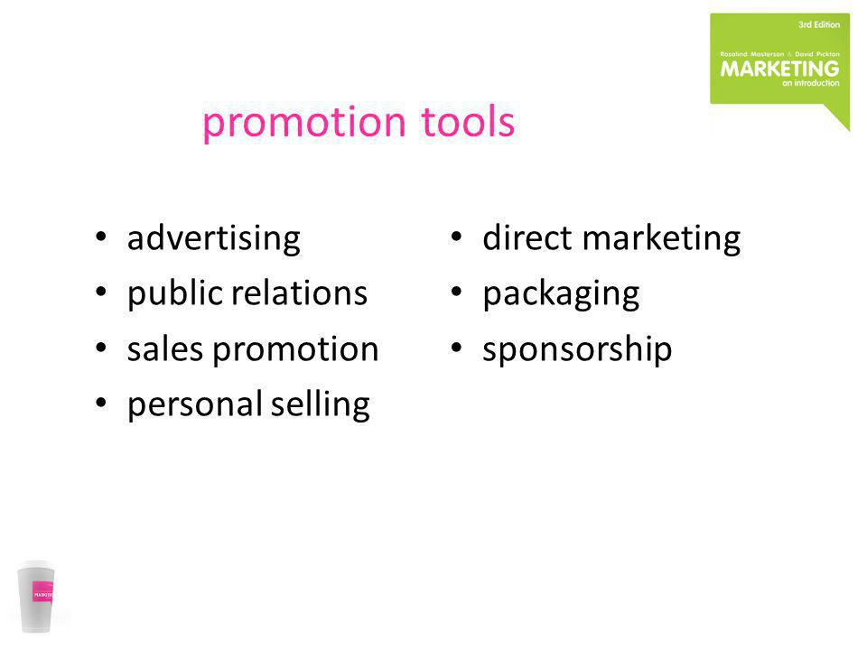 promotion tools advertising public relations sales promotion