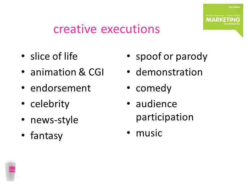 creative executions slice of life animation & CGI endorsement