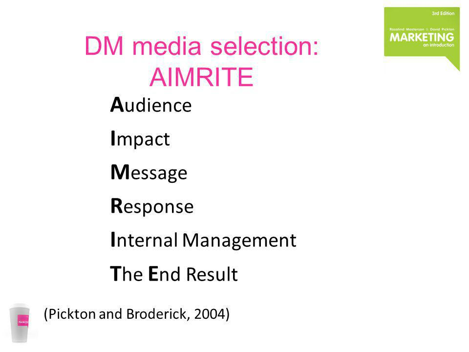 DM media selection: AIMRITE