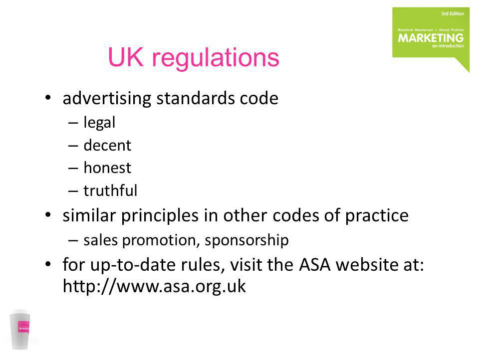 UK regulations advertising standards code
