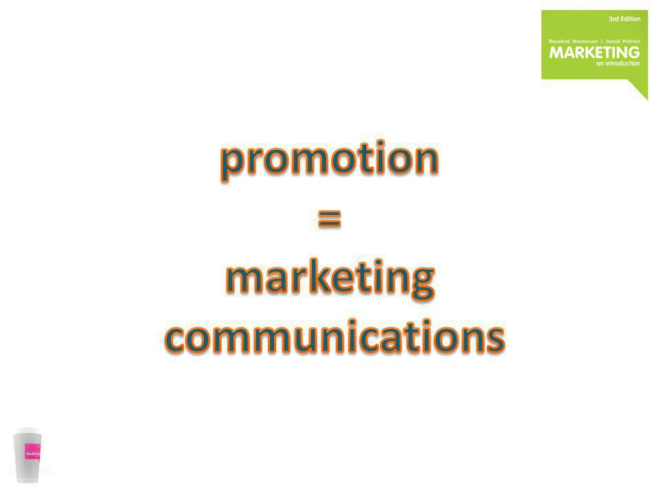 promotion = marketing communications