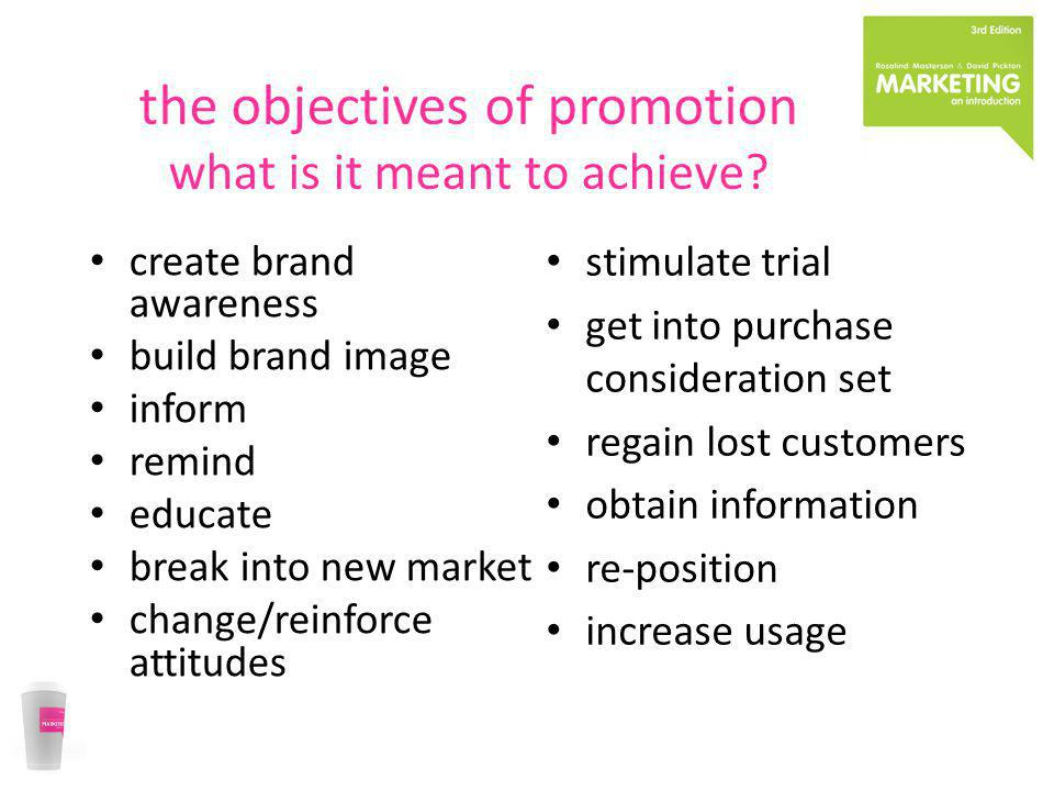 the objectives of promotion what is it meant to achieve