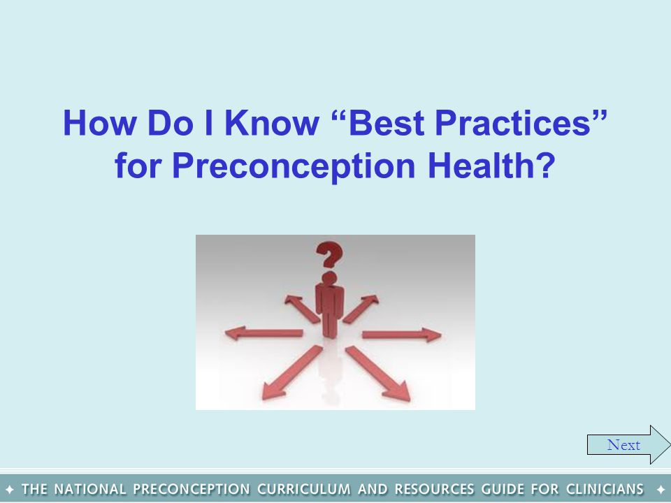 How Do I Know Best Practices for Preconception Health
