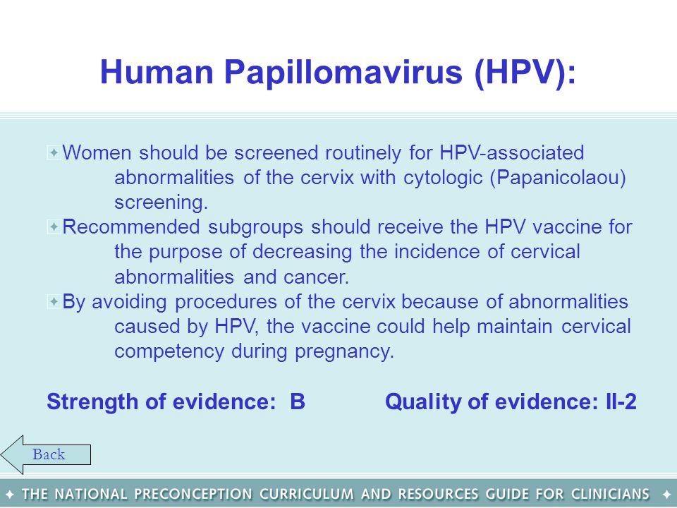 Human Papillomavirus (HPV):