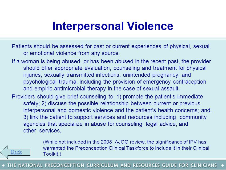 Interpersonal Violence
