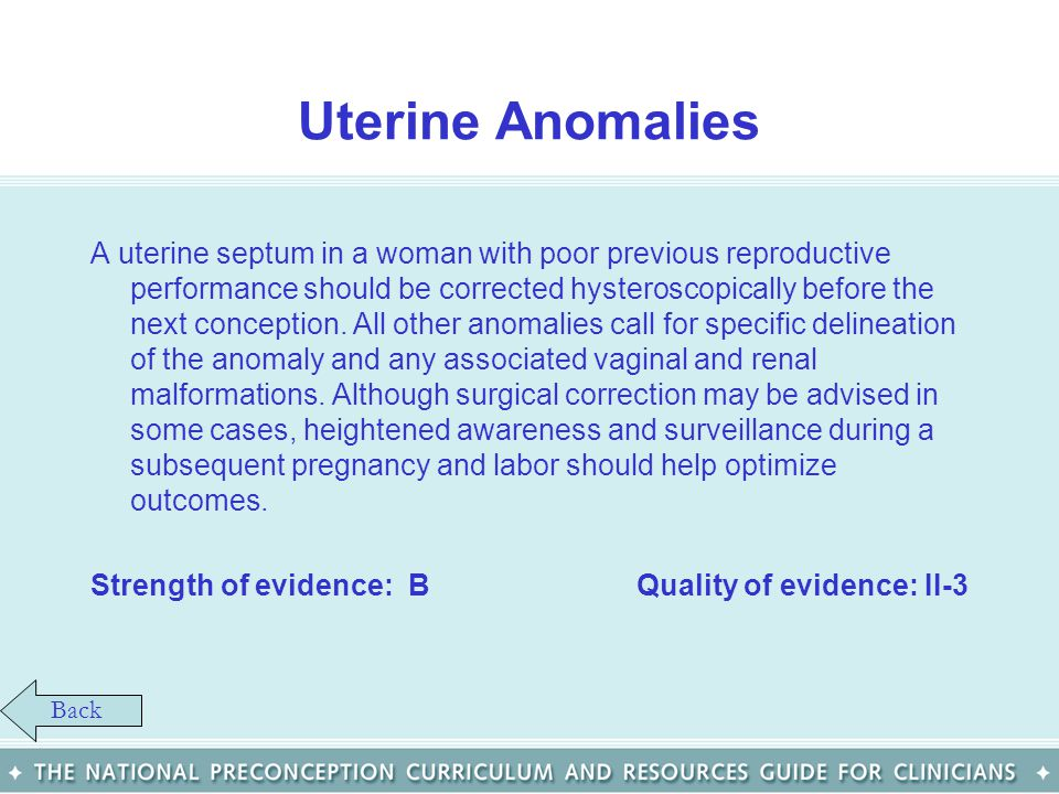 Uterine Anomalies