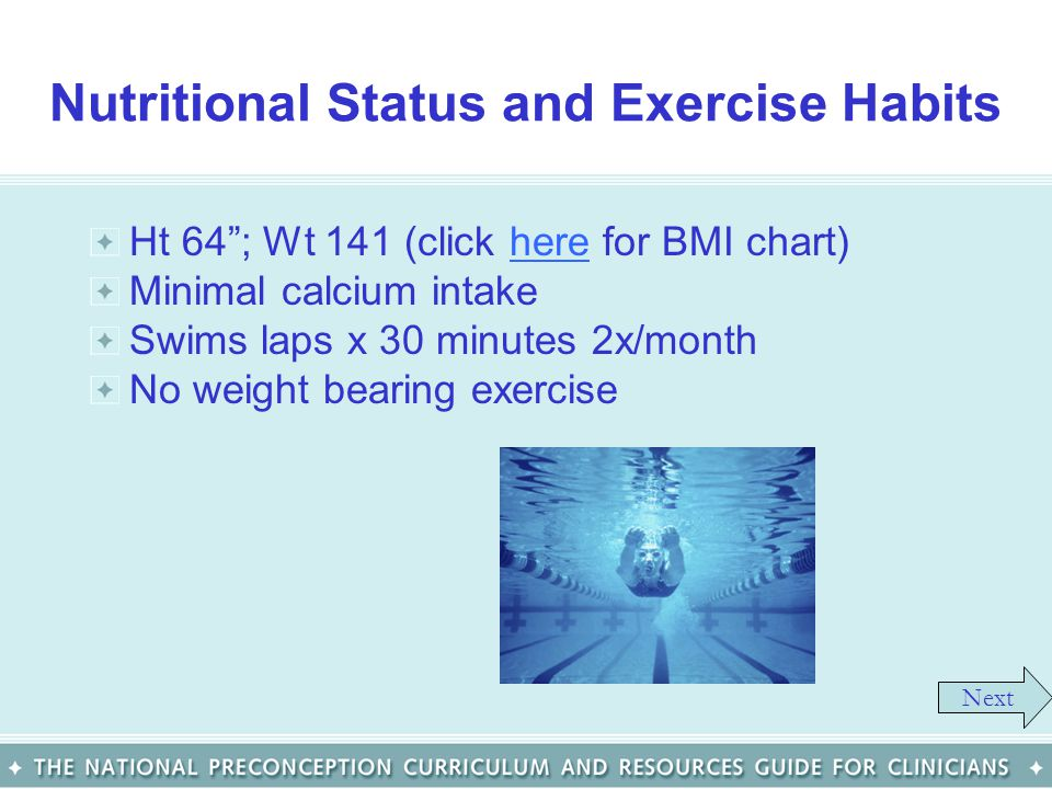 Nutritional Status and Exercise Habits