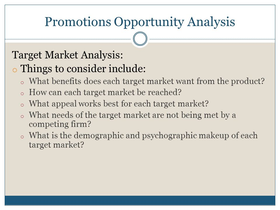 What is Opportunity Analysis?