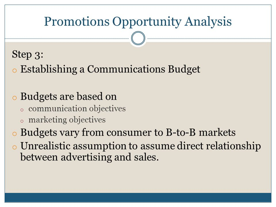 an analysis of communication in sales Health communications campaigns to motivate individuals and  based on an  analysis of demographic and sales data provided by shoprite,.