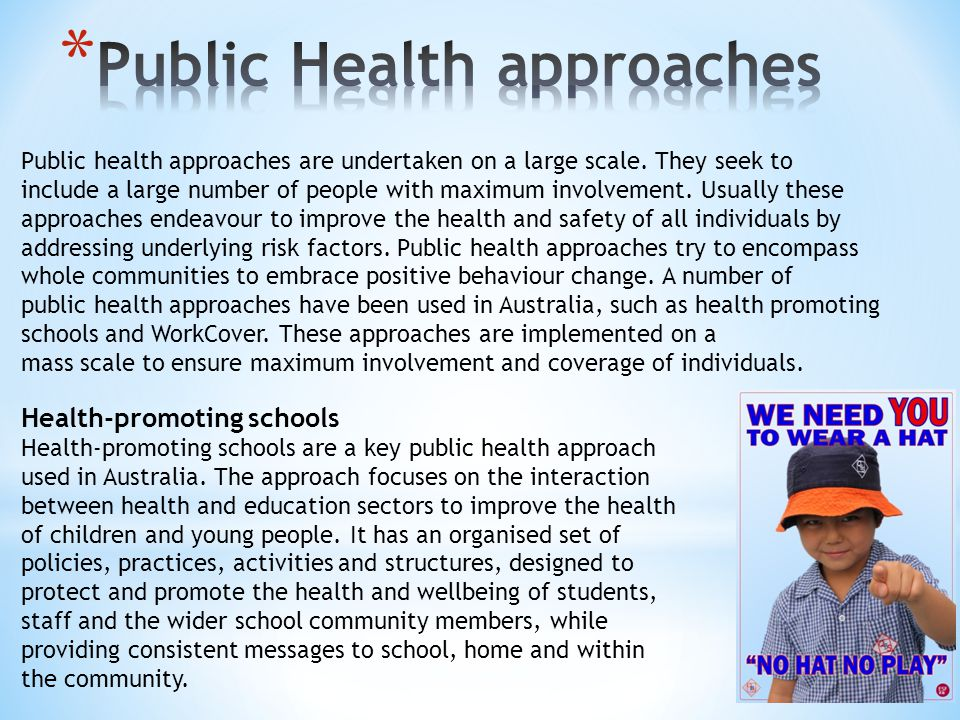 Public Health approaches