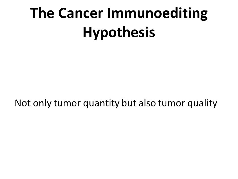 The Cancer Immunoediting Hypothesis