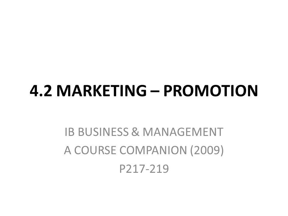IB BUSINESS & MANAGEMENT A COURSE COMPANION (2009) P217-219