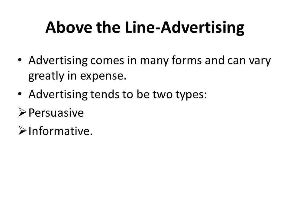 Above the Line-Advertising