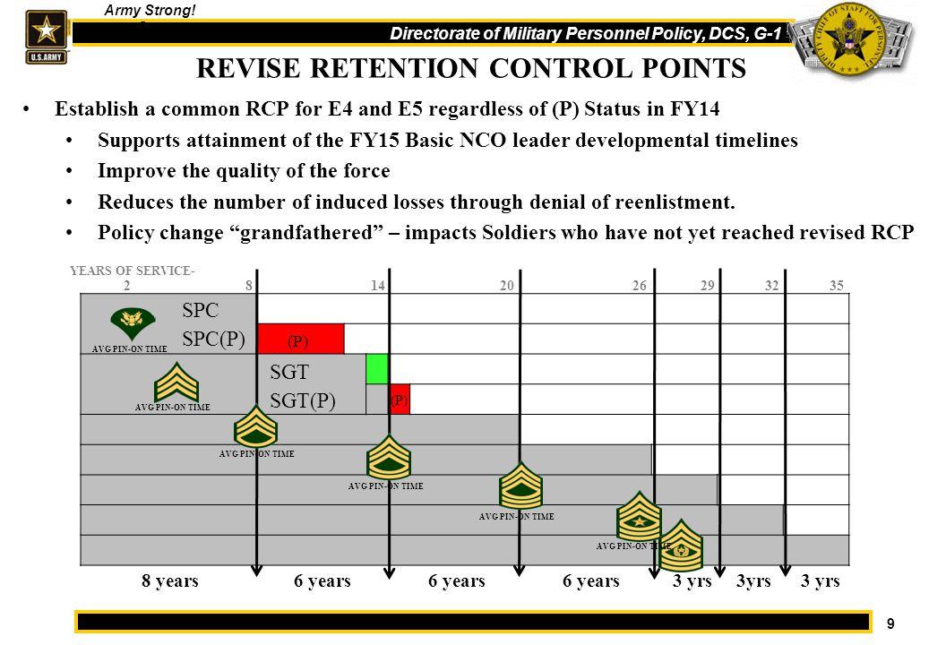 REVISE RETENTION CONTROL POINTS