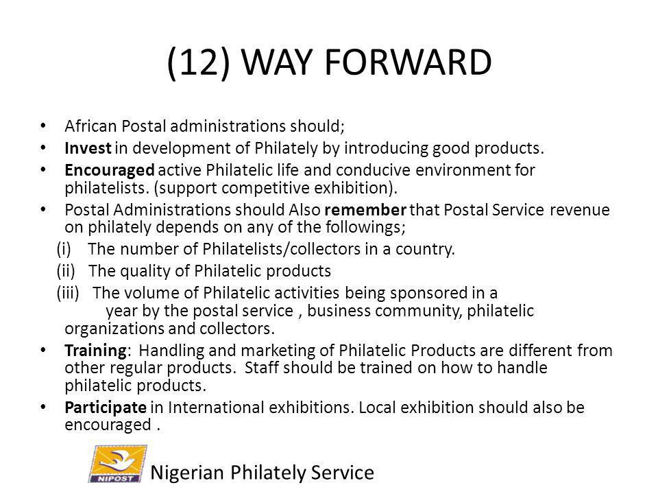(12) WAY FORWARD Nigerian Philately Service