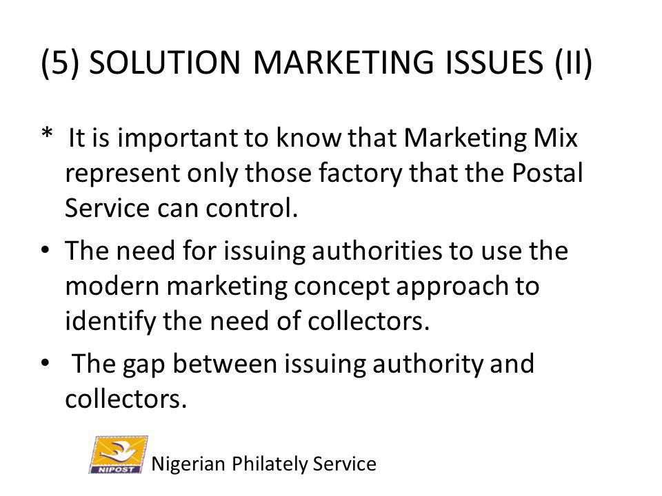 (5) SOLUTION MARKETING ISSUES (II)