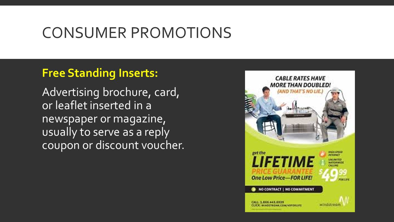 Consumer Promotions Free Standing Inserts: