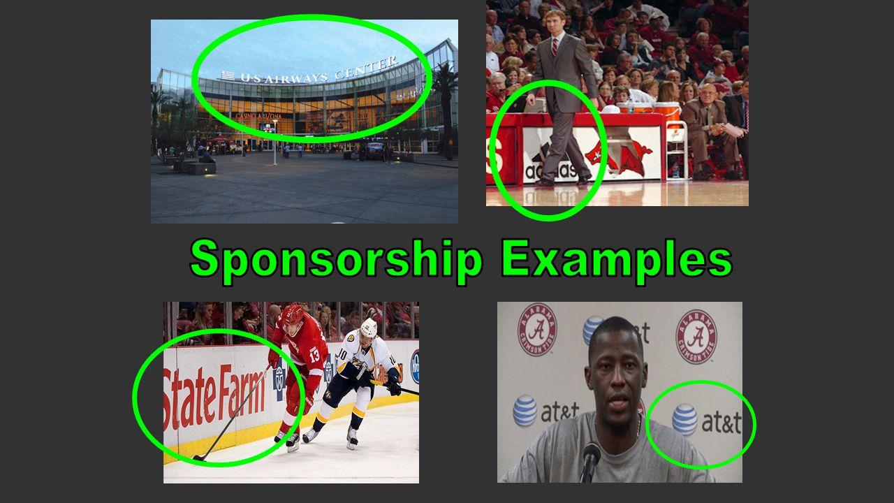 Sponsorship Examples