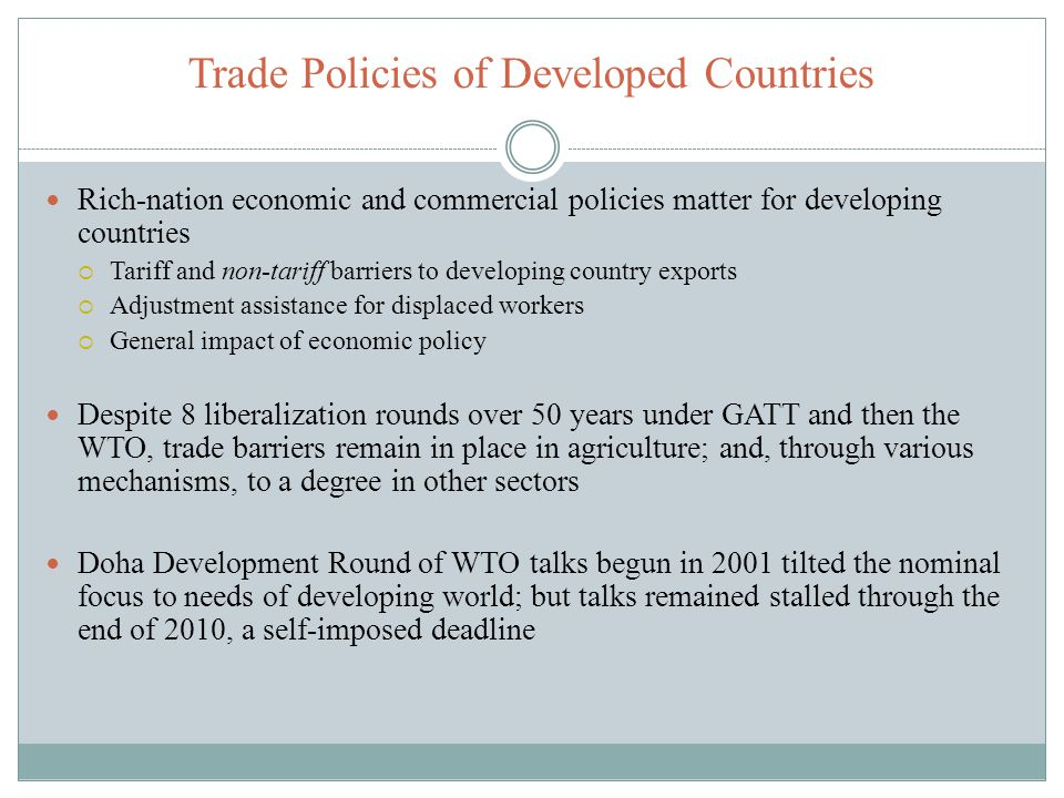 Trade Policies of Developed Countries