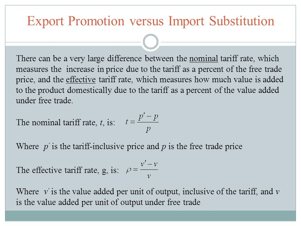 Export Promotion versus Import Substitution