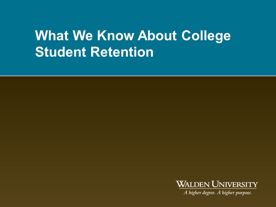 What We Know About College Student Retention