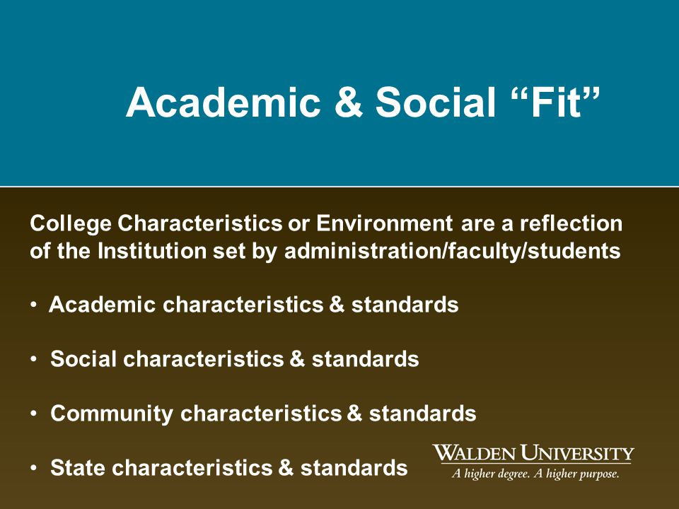 Academic & Social Fit