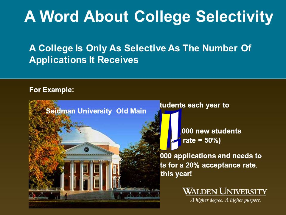 A Word About College Selectivity