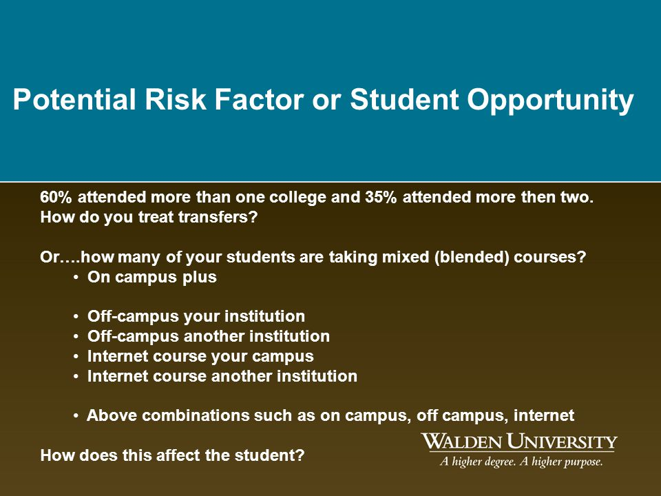 Potential Risk Factor or Student Opportunity