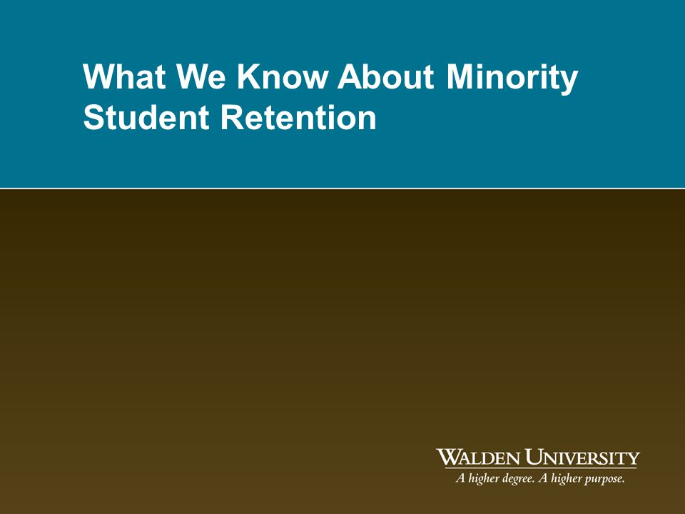 What We Know About Minority