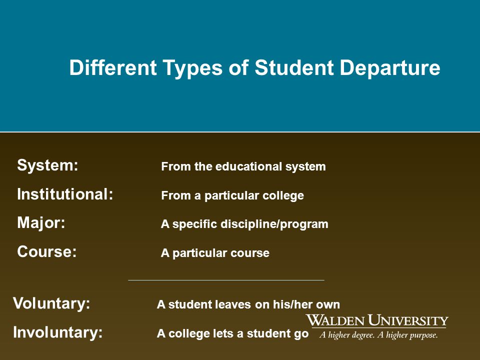 Different Types of Student Departure
