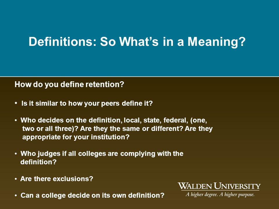Definitions: So What's in a Meaning
