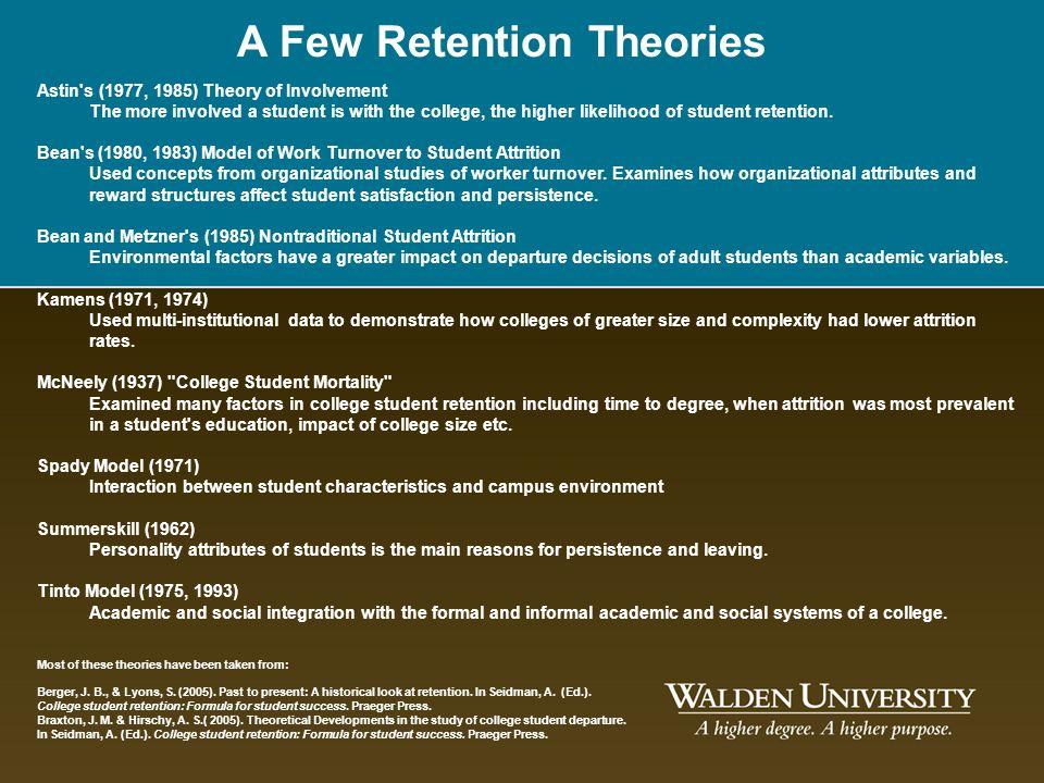 A Few Retention Theories