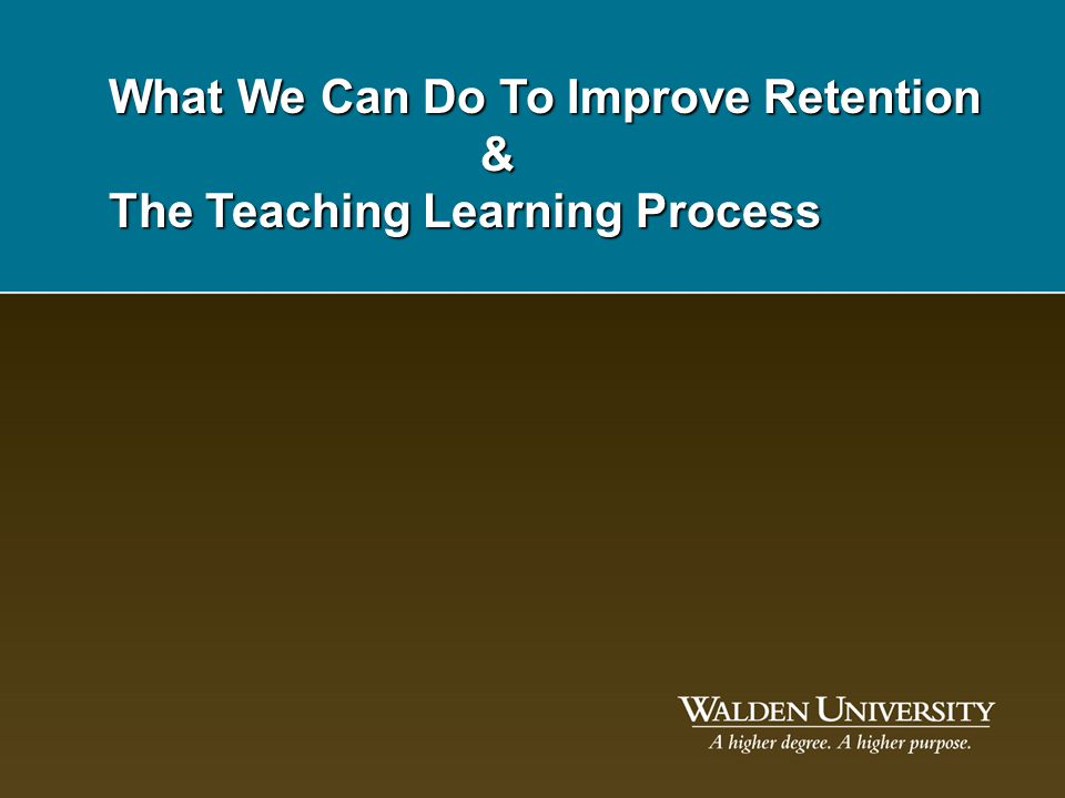 What We Can Do To Improve Retention