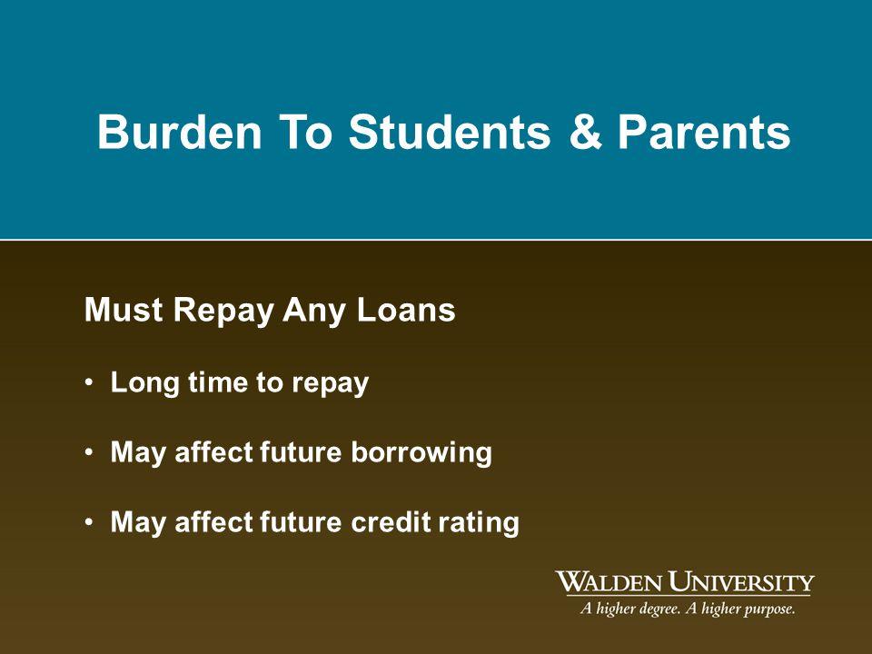 Burden To Students & Parents