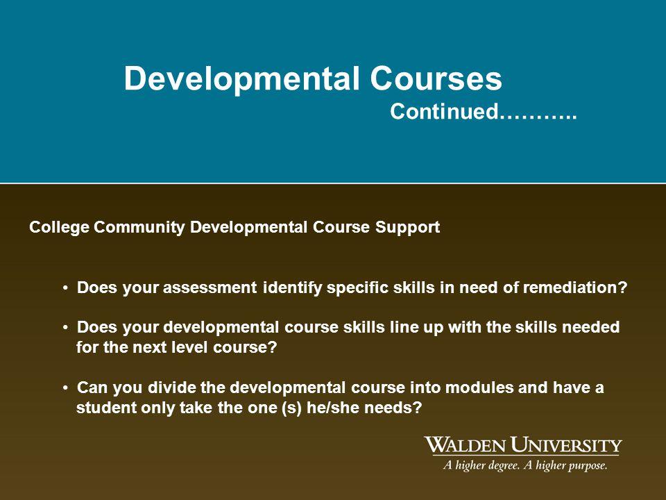 Developmental Courses