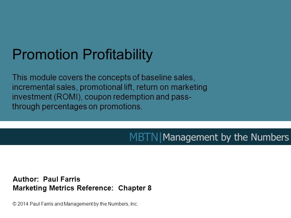 Promotion Profitability