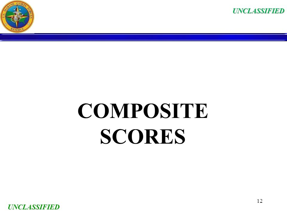 UNCLASSIFIED PROMOTIONS UNCLASSIFIED ppt download – Usmc Composite Score Worksheet