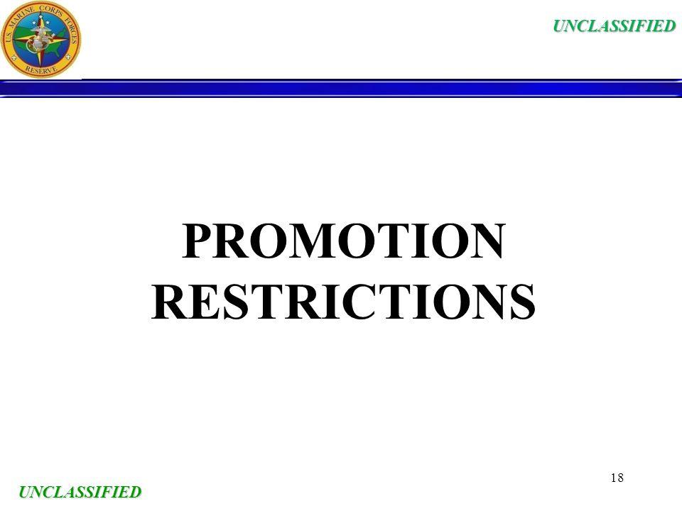 PROMOTION RESTRICTIONS