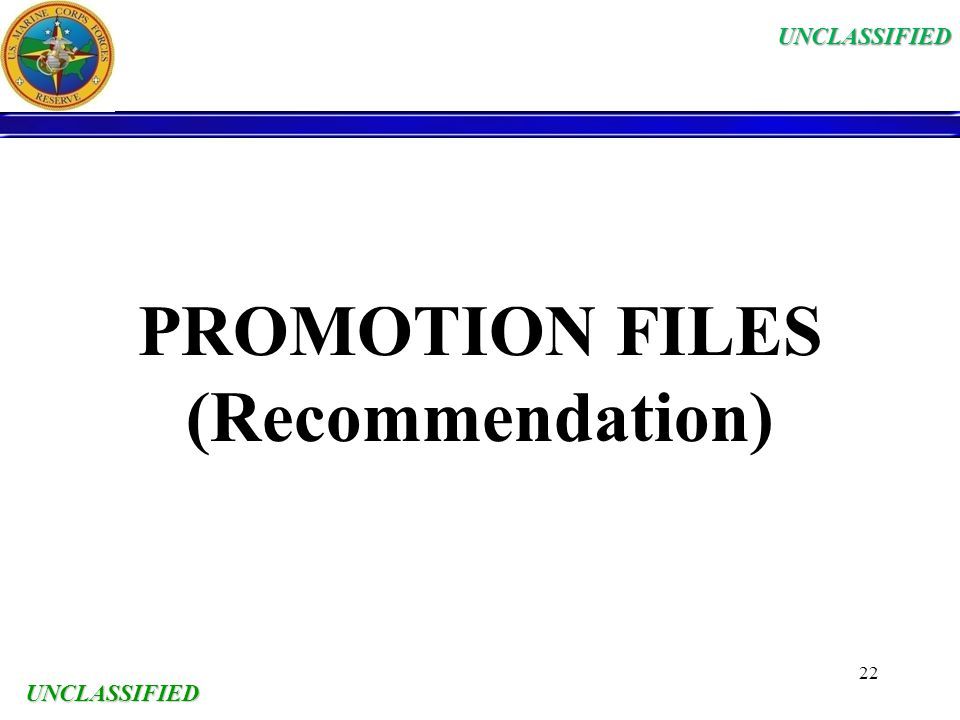 PROMOTION FILES (Recommendation)