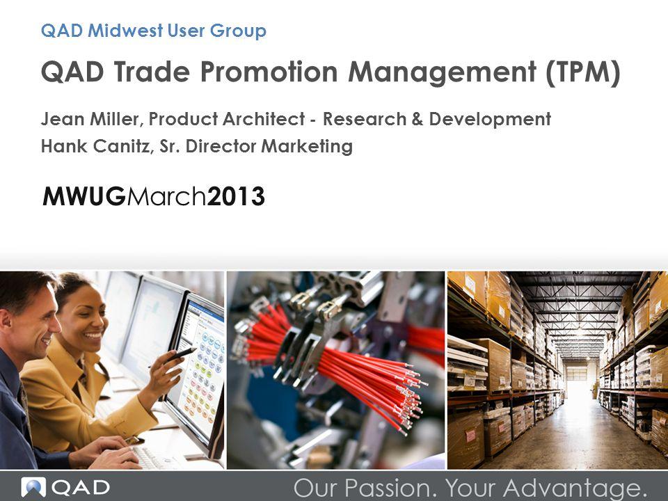 QAD Trade Promotion Management (TPM)