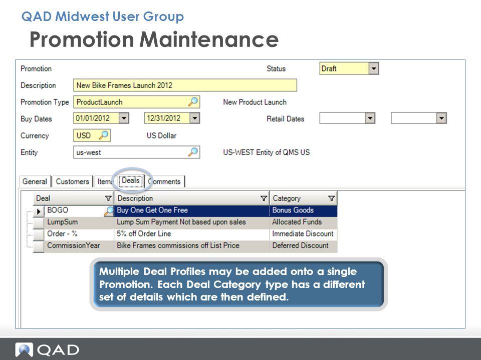 Promotion Maintenance