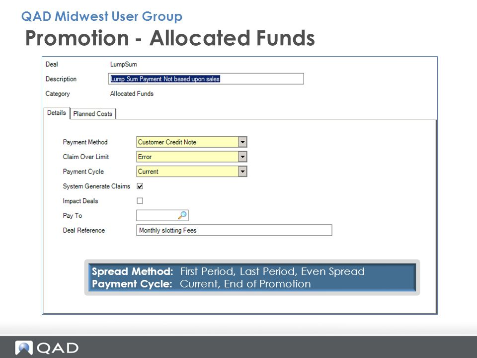 Promotion - Allocated Funds