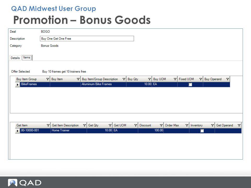 Promotion – Bonus Goods