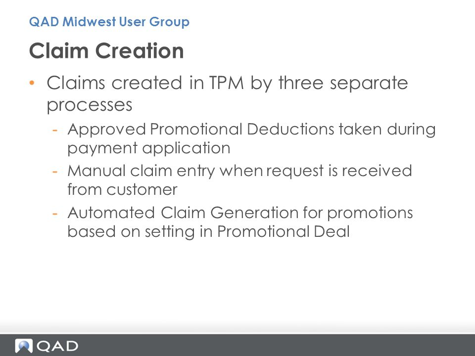 Claim Creation Claims created in TPM by three separate processes