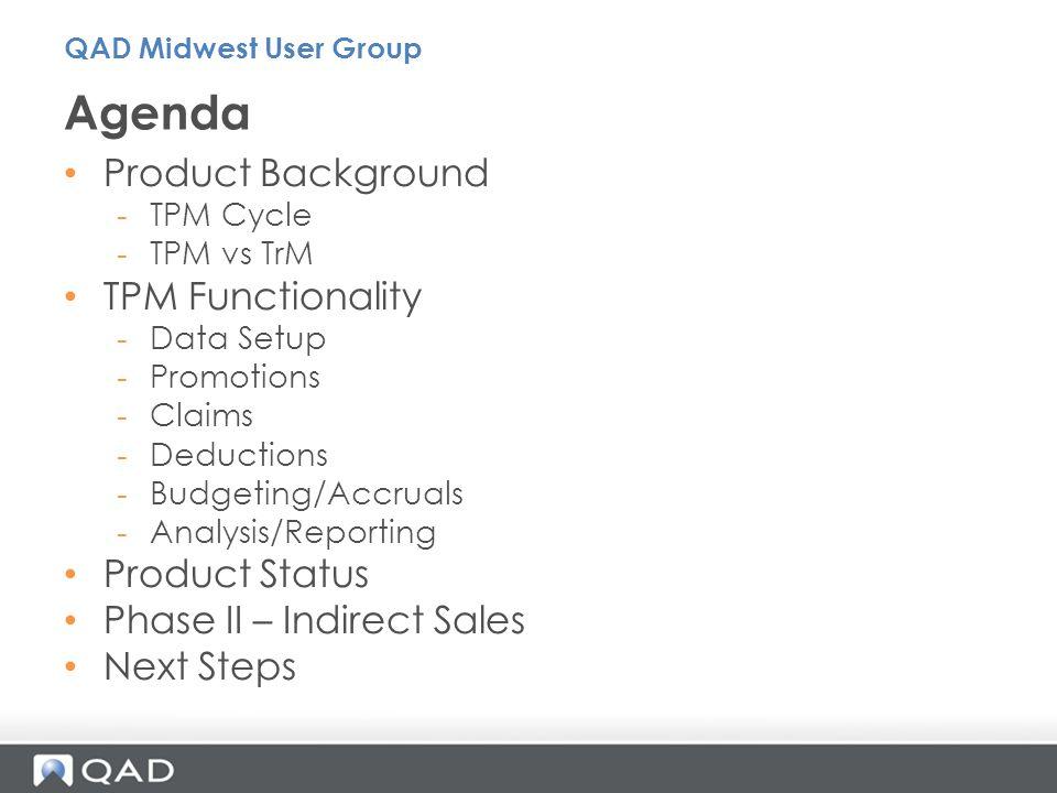 Agenda Product Background TPM Functionality Product Status