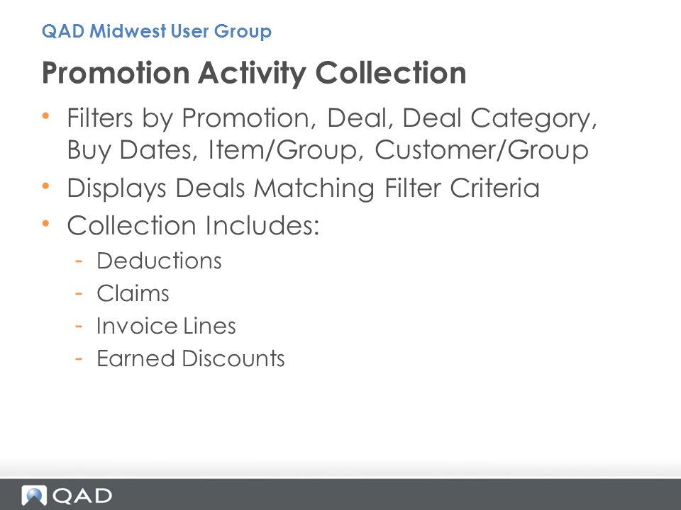 Promotion Activity Collection
